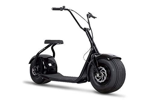 Elektroroller Chopper N1, E-Scooter, E-Roller, E Roller E-Scooter Elektro Roller Scooter, 2000 Watt, Schwarz