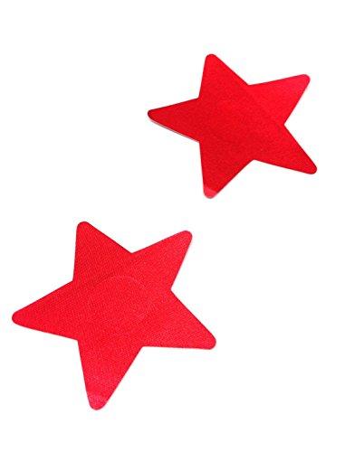 Dames ster tepelsticker rood patroon beker beha pad borst intieme sieraden grootte Ø 80mm
