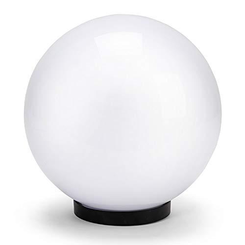 Velamp Sfera APOLUX SPH250 Globo, Lampione per Esterno, 250mm, Attacco E27, Compatibile LED, Impermeabile IP44, per Giardino, parchi, condomini, terrazzi, Bianco