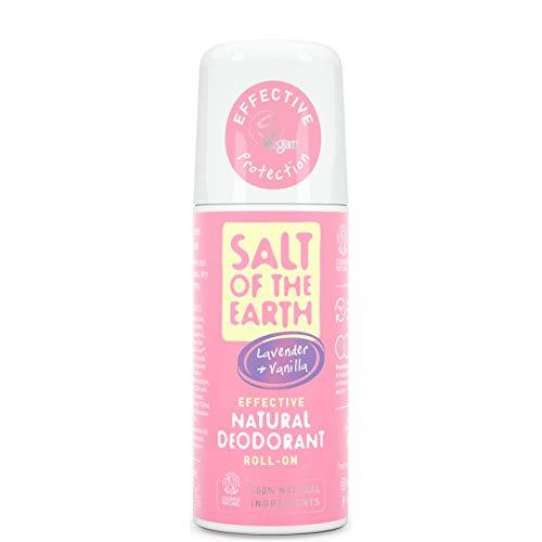Natural Deodorant Deo-Roller von Salt of the Earth, Lavendel & Vanille – Vegan, langanhaltender Schutz, nachfüllbar, mit Leaping Bunny Siegel, hergestellt in Großbritannien – 75 ml