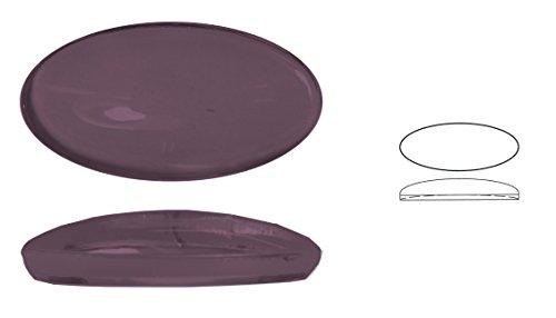 Ullmannglass Pierre à Fond Creux en Verre 1 pièce Ovale avec Bords ourlés Env. Dimensions : 36 x 19 mm 7 mm