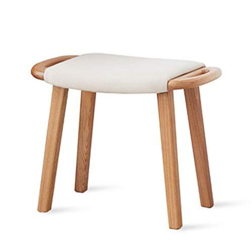 LiChaoWen Peine Maquillaje Taburete Nordic Minimalista Dormitorio Bolsa Suave Soft Stool Moderno Maquillaje Hogar Bajo Taburete Taburete Vanity Chair (Color : Natural1, Size : 58.5x36x42cm)