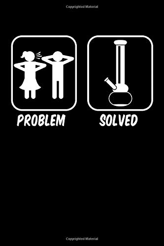 Problem Solved Silhoutte Shisha: Dotted Paper Notebook | 120 Sheets | Planner Journal | Dotgrid | 6 x 9 in | 15.24 x 22.86 cm | Dot Grid Book | Funny Great Gift