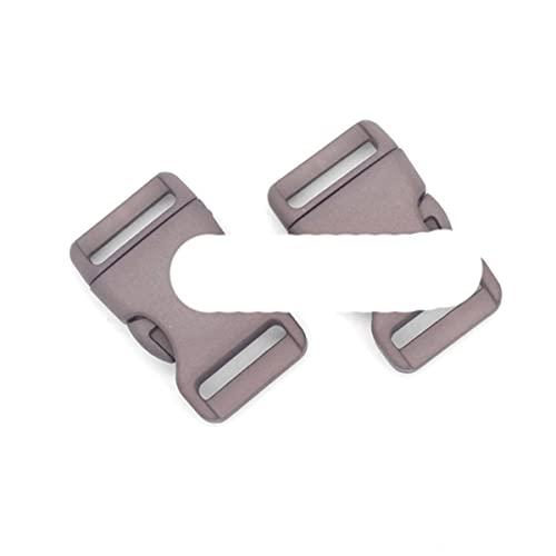 Hebillas de liberación lateral contorneadas de plástico de 25 mm para pulseras de paracaídas/respaldo, 12 unidades, color gris