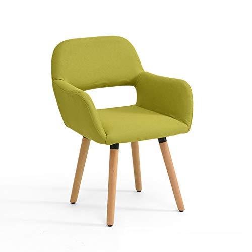 LJZslhei Stuhl Massivholz Stuhl Einfache Moderne Computer Stuhl Kreative Zurück Schreibtisch Stuhl Freizeit Stuhl Esszimmer Stuhl Grün
