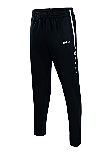 JAKO Kinder Trainingshose Active, schwarz/weiß, 164, 8495