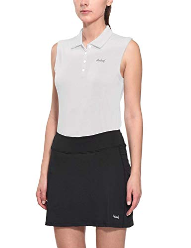 BALEAF Golf Sleeveless Polo Shirts for Women Tennis Tank Tops Quick Dry UPF 50+ White Size XL