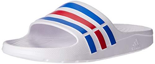 adidas Herren Duramo Slide Dusch- & Badeschuhe, Weiß (White/True Blue/Red), 46 EU