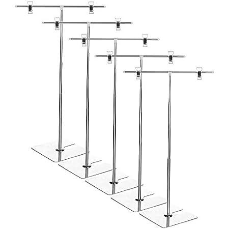 【INSIGHT WORKS】 POPスタンド(フロアスタンド) 長さの調節が便利なスライド式/持ち運びに便利な分解可能タイプ(ドライバー不要) (5個セット)