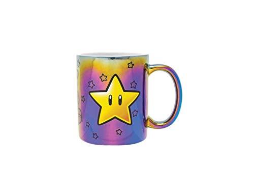 Super Mario Bros Star Power - Taza (metal, en caja de regalo), diseño de estrellas