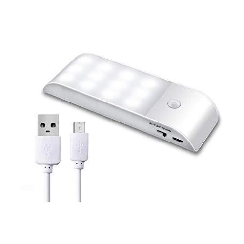 LED Night Light avec automatique crépuscule à l'aube USB Capteur de charge for Couloir Salle de bain Escalier Chambre Cuisine Lampe Blanc Chaud Enfants Souvenirs (Color : Warm White)