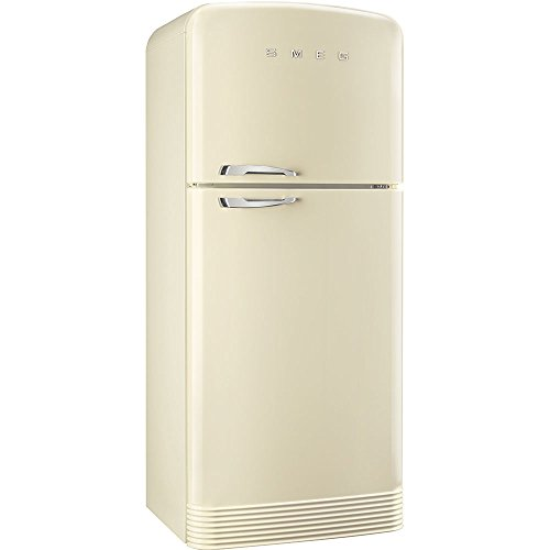 Smeg FAB50RCR Independiente 412L A++ Crema de color nevera y congelador - Frigorífico (412 L, N-T, 5,5 kg/24h, A++, Compartimiento de zona fresca, Crema de color)