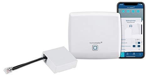 Homematic IP Access Point - Smart Home Gateway mit kostenloser App und Sprachsteuerung über Amazon Alexa + HmIP-MOD-HO Schaltmodul für Hörmann Antriebe