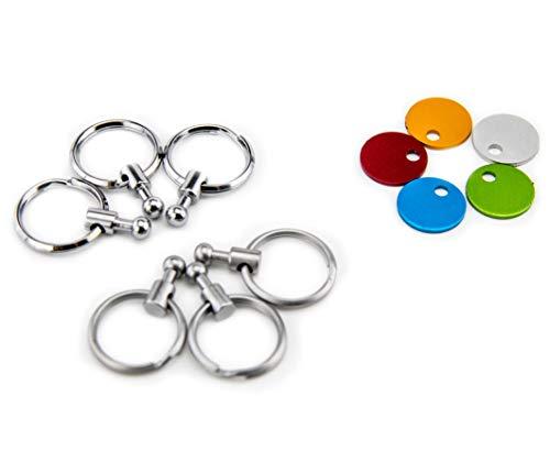 Troika Zubehör Patent Schlüsselhalter – enthält 6 ausklinkbare Ringe zur Schlüsselorganisation und Farbplättchen