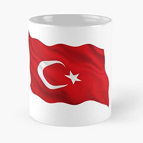 Turkey Waving | Soporte de appreciación de los fanáticos del fútbol – Mejor taza de café de cerámica blanca de 11 onzas