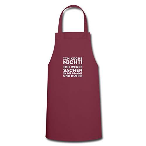 Spreadshirt Ich Koche Nicht Werfe Sachen In Die Pfanne Kochschürze, Bordeaux