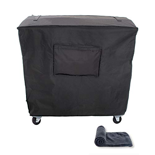 Grey Rolling Ice Chest, Waterproof Protective Cover Covolo Outdoor Cooler Cart Cover with UV Coating Fits 80 Quart Rolling Coolers Patio Cooler,Beverage Cart