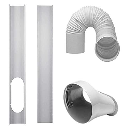Tubo del condizionatore d'aria Accessori del condizionatore d' aria 2 PZ Finestra Slide Kit Piastra da 5, 9 pollici Adattatore per finestre Connettore del tubo da 5, 90 pollici Tubo di scarico da 5,