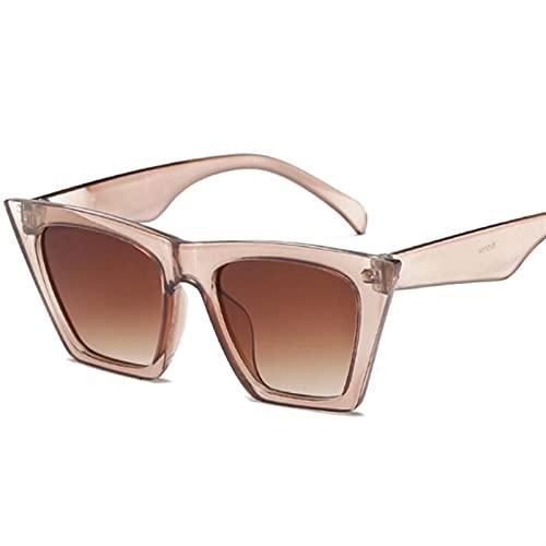 MVAOHGN 2021 Classic Pequeño Eye Gafas de Sol Mujeres Diseñador de Marca Vintage Sexy Sun Glasses Espejo Lente (Lenses Color : C5)