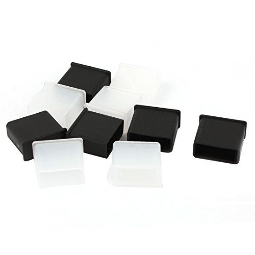 TOOGOO 10 Stueck Plastik USB A-Stecker Anti-Staub Stecker Stopper Kappe Abdeckung Schwarz + Klar