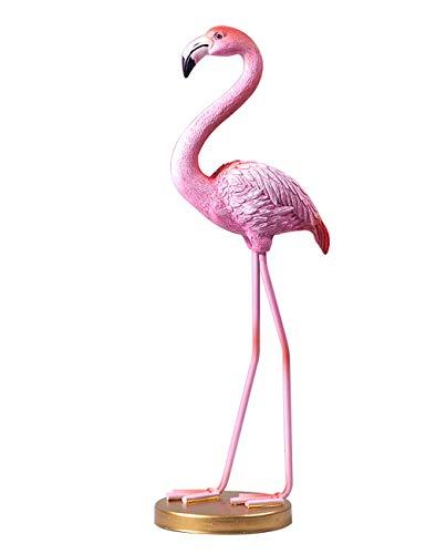 Amoy-Art Flamingo Skulptur Figuren Handgefertigte Dekoration Premium Geschenk Souvenir Geschenkbox Sichere Farbe für Kinder Statue Tier Polyresin 29cmH