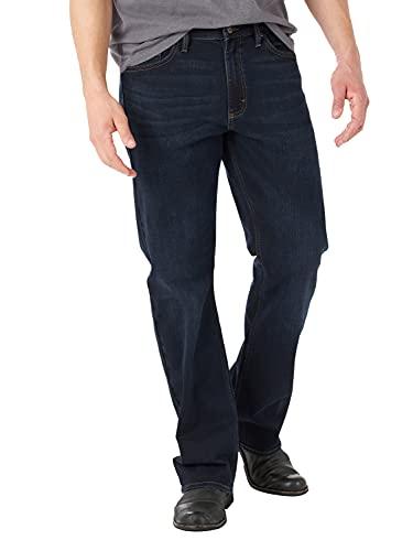 Wrangler Authentics Jeans da Uomo, vestibilità Comoda, Taglio Aderente, Dark Harbor, 34W x 34L