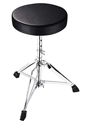Drum Throne Padded Seat Drummer Stool 360 Degree Swivel Round Chair 12 -20  Adjustable Height Folding Stand Percussion Accessory US Delivery