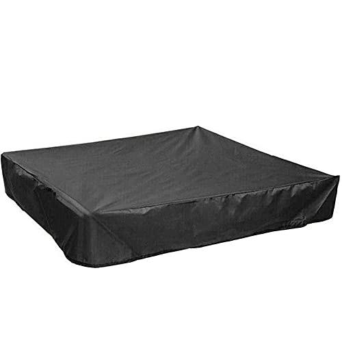 Gobesty Funda Arenero, 120 x120 cm Cubierta para Arenero Infantil, Impermeable Arenero Cobertor de Piscina, con Cordón Cubierta de Sandbox, Lona para Arenero para Piscina Jardín para Niños - N