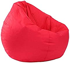 Classic Bean Bag Sofa Chairs, Lazy Lounger Bean Bag Storage Chair for Adults and Kids Indoor Outdoor for Home Garden Lounge Living Room (Red)