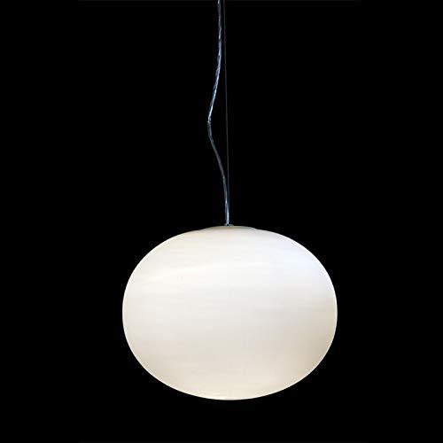 Hyy-yy Leche moderna Bola de cristal Bola de cristal Lámpara colgante Luz de Luz GLO S1 S2 Lámpara colgante Minimalista Restaurante/Lámpara de barra (Body Color : S2 Dia 17.7 Inch)