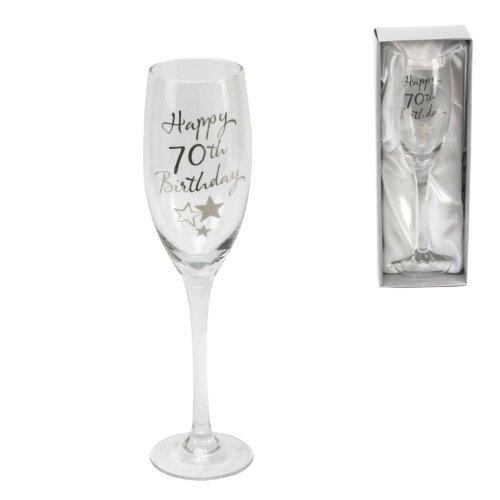 Juliana Happy 70th Birthday Flûte à Champagne en verre dans une boîte-cadeau G31870