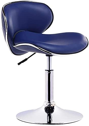 Sedia da bar con schienale girevole e sedia girevole per registratore di cassa (colore: blu, dimensioni: 38-53 cm)