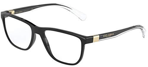 Dolce & Gabbana Gafas de Vista STEP INJECTION DG 5053 Black Crystal 56/18/145 hombre