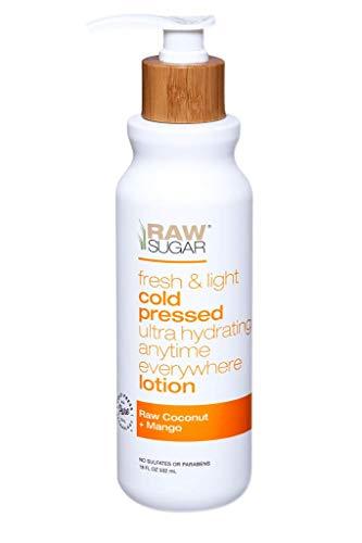 Raw Sugar Raw coconut+Mango Fresh&light cold pressed ultra hydrating anytime everywhere Body Lotion 18 fl oz, pack of 1