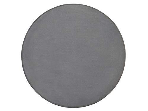 Primaflor - Ideen in Textil Tapis de Sol Gris Diamètre 100cm, Tapis de Haute Qualité et Adapté au Chauffage au Sol