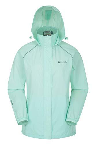 Mountain Warehouse Pakka Jacke für Damen - Wasserfeste Regenjacke, Frau verstaubare Freizeitjacke, atmungsaktive, leichte Windjacke, bequemer Damenmantel - Für Frühling Minze 48 DE (50 EU)