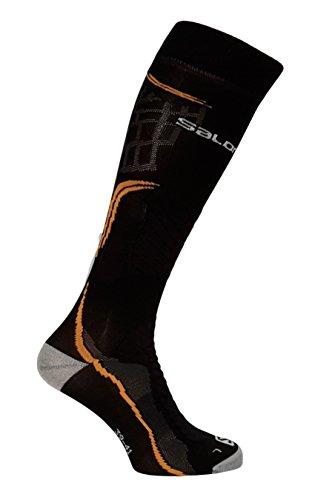 SALOMON X Pro - Calcetines (talla S, 36-38), color negro y naranja