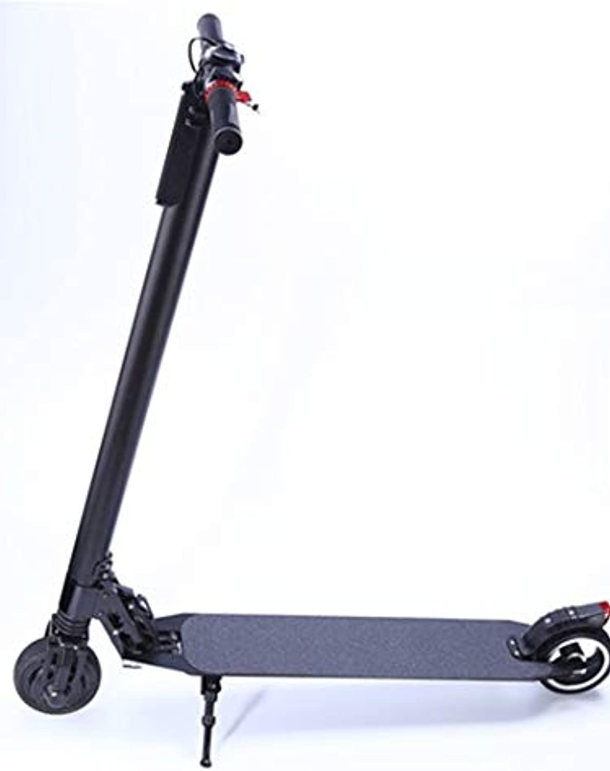 Electric Scooter 8 inches, Aluminum Alloy, 300 Watt Motor, Round Instrument, only 8.5 kg, eScooter, Electric Scooter, Double Shock Absorption Front and Rear, 24V, Black
