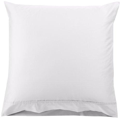 AmazonBasics - Kissenbezüge-Set, Fadenzahl 400, 2er-Set, 80 x 80 cm - Weiß