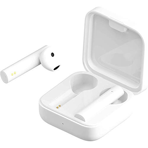 Mi True Wireless Earphones, Xiaomi Air2 SE Touch Control Bluetooth in-Ear Headphone, Earbuds with Charging Case for Android/iPhone/Samsung(White)