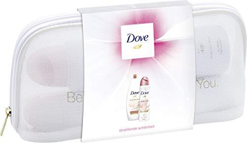 Dove Geschenkset mit Beautycase Winterpflege (Deospray 150ml + Duschgel 250ml + Kosmetiktasche) 1er Pack