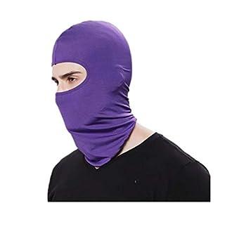 Balaclava Outdoor Riding Motorcycle Windproof Sunscreen dustproof mask mask Headgear  Cs-07 Purple