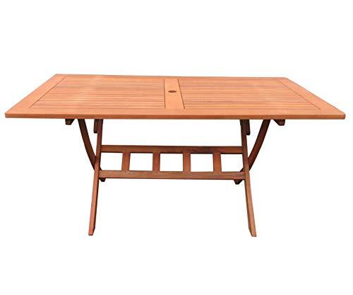 GRASEKAMP Qualität seit 1972 Gartentisch Klapptisch Rio Grande 160x90cm Eukalyptus Gartenmöbel Holztisch