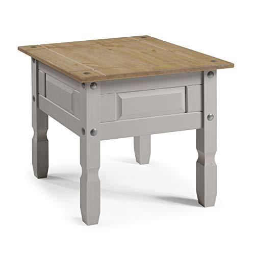 Mercers Furniture Trade Corona Grey Wax Lamp Table