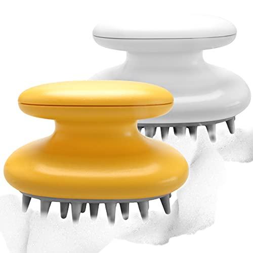 2 Pack Hair Scalp Massager Silicone Waterproof Shampoo Brush...