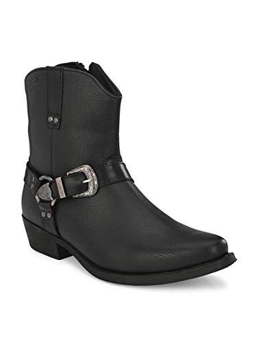Delize Men's Black chelsea High Ankle Boots