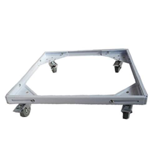 JJJJD Base móvil para lavarropas de Acero Inoxidable para Soporte secador secador (Size : 60-78cm×37-55cm)