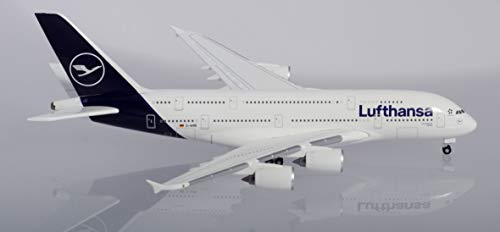 herpa 533072 – Airbus A380, Lufthansa Doppeldecker, Wings, Modell Flugzeug, Flieger, Modellbau, Miniaturmodelle, Sammlerstück, Kunststoff, Mehrfarbig - Maßstab 1:500