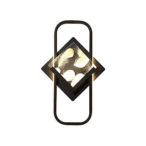 ZNLHJ Lámpara de Pared de Lujo de luz Simple Moderna, lámpara de Pared de Fondo de Sala de Estar, diseño de Marco Rectangular Simple Moderno, con patrón de Plumas, Accesorio de iluminación Interior