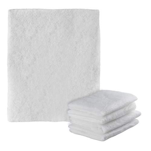 Relaxdays 10027846 Filter Dunstabzugshaube, 5er Set, zuschneidbar, Dunstfilter für Abzugshauben, Fettfilter Vlies, 47x59 cm, weiß, Polyester
